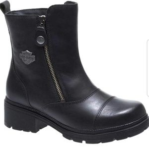 Harley Davidson black leather motorcycle boots 7.5